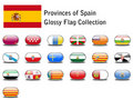 Spanish provinces flags Stock Photography