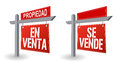 Spanish real estate sign illustration design over a white background Stock Photography