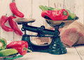 Spanish Red and Green Peppers Royalty Free Stock Photo