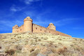 Spanish renaissance haunting Castle of Calahorra Royalty Free Stock Photo
