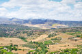 Spanish rural summer landscape from ronda view Stock Photography
