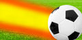 Spanish soccer ball with abstract trace Royalty Free Stock Images