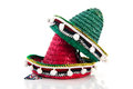 Spanish sombreros red and green Royalty Free Stock Photo