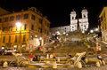 Spanish Steps at night Stock Images