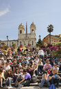 Spanish steps on piazza di spagna spanish square in rome italy Royalty Free Stock Photography