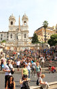 Spanish steps scalinata della trinita dei monti set steps rome capital italy climbing steep slope piazza di spagna base piazza Stock Image