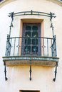 Spanish Style Architecture House Balcony Royalty Free Stock Photo