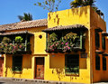 Spanish-style house at the historic city of Cartagena, Colombia