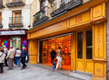 Spanish sweets shop in Madrid Royalty Free Stock Photo