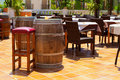 Spanish tapas bar typical terrace Royalty Free Stock Photos