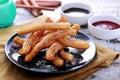 Spanish tapas churros Royalty Free Stock Photo