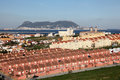 Spanish town algeciras and gibraltar in the background Stock Photos