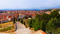 Spanish town in day teruel top view of aragon Royalty Free Stock Photos