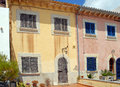 Spanish Town Houses in Majorca Stock Photos