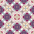 Spanish traditional ornament, Mediterranean seamless pattern, tile design, vector illustration. Royalty Free Stock Photo