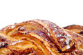 Spanish Trenza de Almudevar, a typical braided pastry Royalty Free Stock Photo