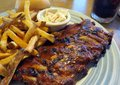 Spareribs and Fries Royalty Free Stock Photo