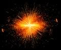 Spark burst! Royalty Free Stock Photo