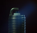 Spark plug on black background Royalty Free Stock Photo
