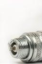 Spark plug macro closeup Royalty Free Stock Photo
