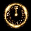 Sparking Clock Royalty Free Stock Photo