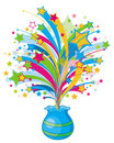 Sparkle break out from vase Royalty Free Stock Photos