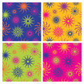 Sparkle Flower Pattern in Brights Royalty Free Stock Photo