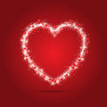 Sparkle heart background design for valentine s day Stock Images