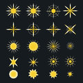Sparkle stars icons. Symbols of , glint. gleam, etc. Royalty Free Stock Photo
