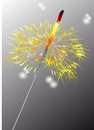 Sparkler burning on gray background eps Stock Photo