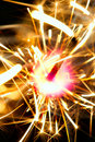 Sparkler on fire Stock Image