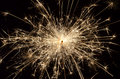 Sparkler firework burning on black background Royalty Free Stock Photos