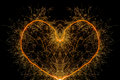 Sparkler heart shape Royalty Free Stock Photo