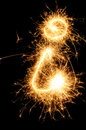 Sparkler letter of English alphabet Royalty Free Stock Image