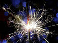 Sparkler making fireworks Royalty Free Stock Image