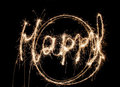 Sparklers happy backgrounds Royalty Free Stock Photo