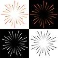 Sparkles starburst sunburst colorful logo Royalty Free Stock Photo