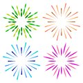 Sparkles starburst sunburst colorful logo