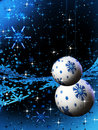 Sparkling blue holiday bulbs and ornaments Royalty Free Stock Images