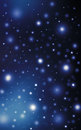 Sparkling bright stars night sky Royalty Free Stock Photo
