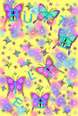 Sparkling Butterflies and Bugs Stock Image