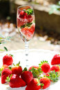 Sparkling Champagne & Stawberries Royalty Free Stock Photo