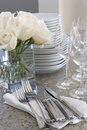 Sparkling dishes for home entertaining Royalty Free Stock Photo