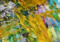 Pastel golden painting contrasts abstract background