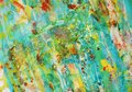 Sparkling green red yellow gold soft watercolor hues, background Royalty Free Stock Photo