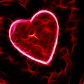 Sparkling Heart Abstract Painting Royalty Free Stock Photos
