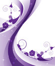 Sparkling purple floral frame Royalty Free Stock Images