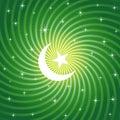 Sparkling Ramadan Moon Royalty Free Stock Photo