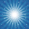 Sparkling Star-Burst Background Stock Photography