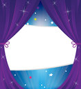 Sparkling theater curtain Royalty Free Stock Images